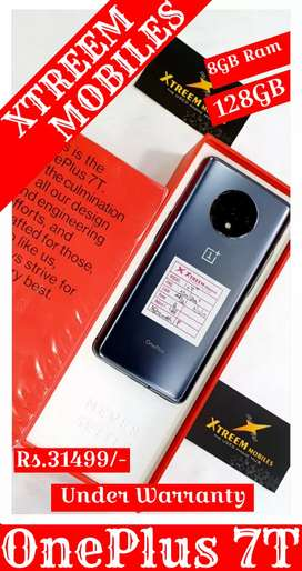OnePlus 7T..8/128..Under Warranty..Frosted Silver Colour..