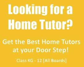 Hiring Home Tutor For Class V To XII