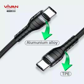 Kabel Pd charger data casan c-to-c or c-to-L vivan powerdelivery speed