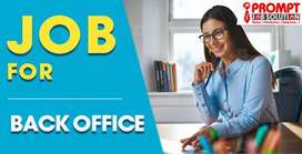 We're Hiring for Back office Executive