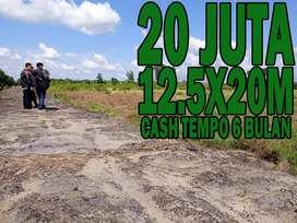 Tanah murah uk 12.5x20m 20 jutaan