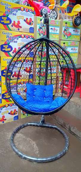 Swing jhula with stand and cushion
