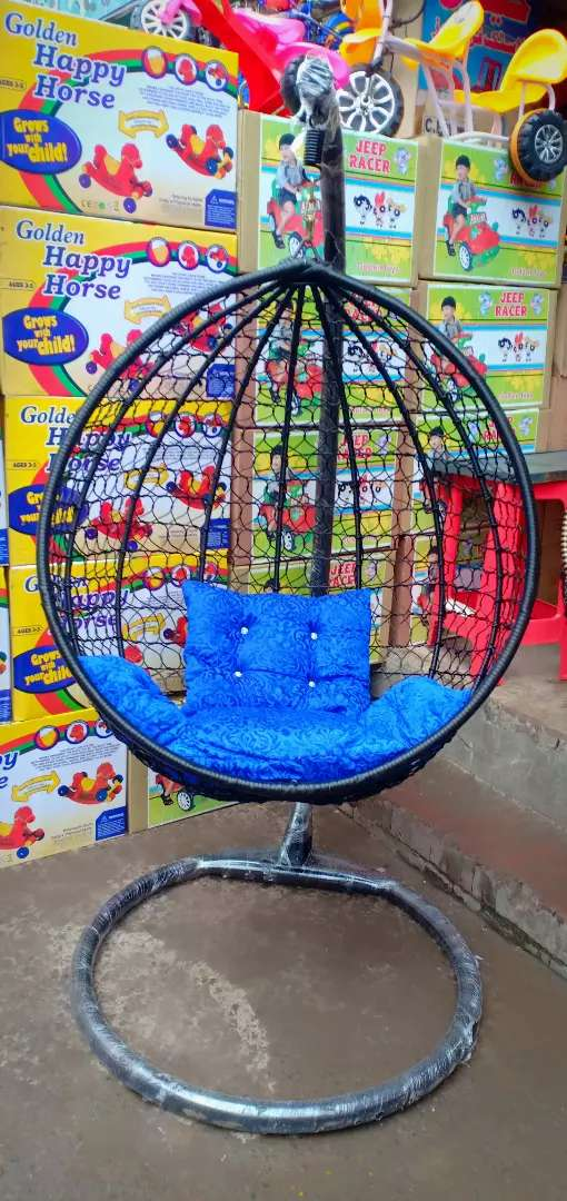 Swing jhula with stand and cushion 0