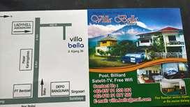 Disew./Dijual/HOTEL villa 17 guestr./full interior  to go 40 jt bulan
