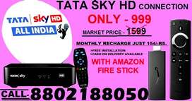 SPECIAL#OFFER TATA SKY NEW HD CONNECTION WITH AMAZON FIRE STICK Rs.999