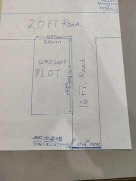 1250sqft corner plot , raitha road , sitapur road , bkt aur force