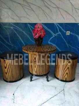 Kursi meja motif asli cat