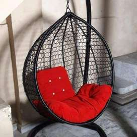 Swing Chair Hanging (Jhoola) Egg Shape Single & Double Seater Rattan