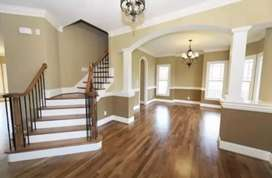 Wooden anv Pvc flooring wallpapers wall paneling blinds are available