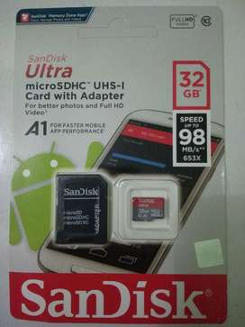 Sandisk Ultra 32Gb class 10 up to 98Mb/s Original (include adapter)