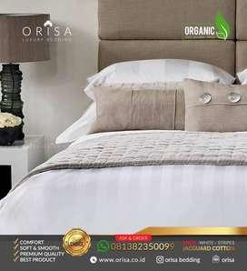 Sprei Hotel Premium Bedcover set uk.180x200x40. Bintang Lima Termurah