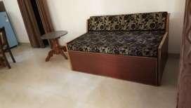 1 bhk semi furnished flat available for urgent sale at Brindavan soc