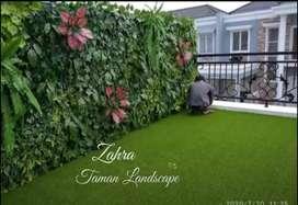 Green Wall Vertikal Garden Sintetis Pembuatan Taman Vertikal Garden