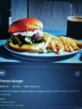 Need chef for preparing burgers