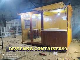 Rumah container nasi uduk kekinian semi Container booth viral.