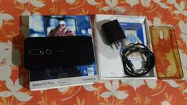 Nokia 6.1 plus .. new condition original box , charger, data cable