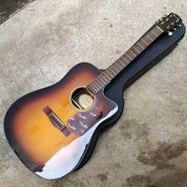 Gitar akustik elektrik original Fender CD140 Sunbrust
