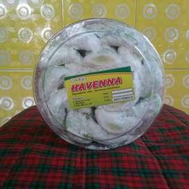 Kue kering Putri salju kacang/ pandan
