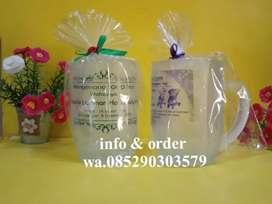 souvenir glas tangkai oval dove