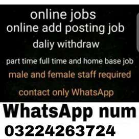 Jobs avalible for part time worker male/Female/Students/housewife