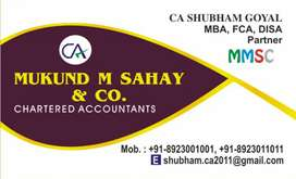 Accountant having knowledge of Income Tax and TDS for CA Office
