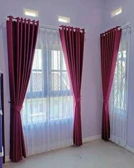 Tirai Curtain Hordeng Blinds Gordyn Gorden Korden Wallpaper 25.73ne8