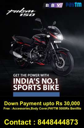 Get Bajaj Pulsar 150CC with lowest Rate of interest