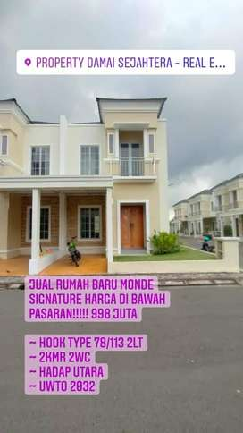 Rumah baru Monde Signature Harga dibawah pasaran