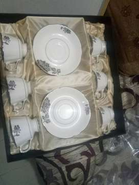 New packed Bonn china 6 cup plate set