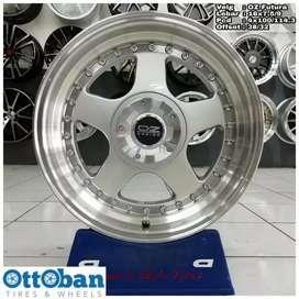 Velg mobil Yaris Brio murah Oz Futura R16X7.5/9 h8x100/114.3 ET 38/32
