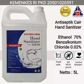 Oxford Chem hand sanitizer cair 5 liter kemenkes