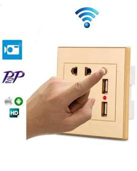 wall socket with camera high quality avail for office & home security