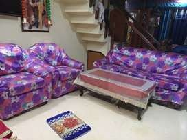 Sofa set with loose covers and sleep well mattress