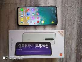 Note 8 pro 6gb ram 128 | 4 month Used