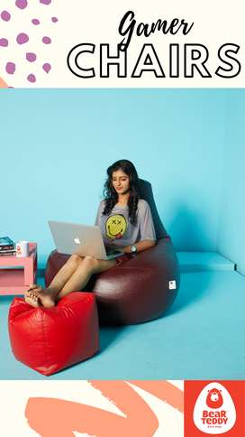 Bean bag sofa chair with beans - comfortable, easy to carry, pocket