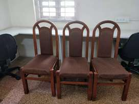 Teak wood dining chairs. Set of 6 chairs.