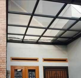 Kanopi atap tahan panas dan tidak berisik bahan anti karat **009