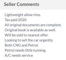 SUZUKI BALENO for urgent SALE