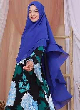 Khimar Jilbab Ceruty Babydoll 2 Layer Premium Quality Grade A
