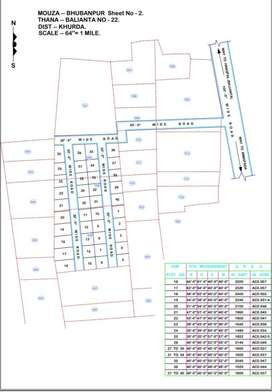 Plot available for sale in bhubanpur mauza. Ba