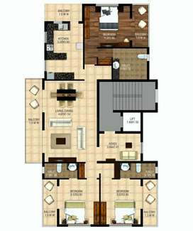 Under construction 3bhk in Dona Paula with car parking and lift