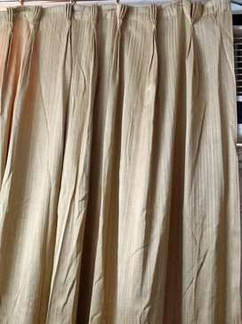 Heavy curtains brown colour with astar ( with rings)