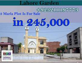 3 Marla Plot Facing Park For Sale in Lahore Garden, Shahdara Lahore