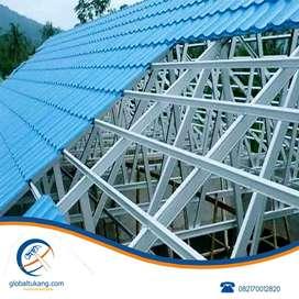 Tukang pemasangan rangka atap dan kanopi baja ringan