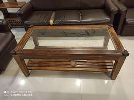 Rose wood coffee table, lamp table and magazine rack for sale