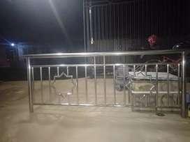 Pagar Balkon, Railings Tangga, Pintu Garasi, Kanopi Stainless