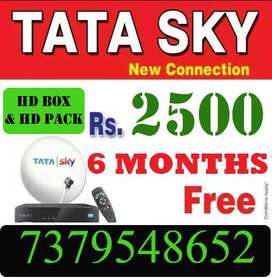 TATA SKY DTH CONNECTION HD BOX LOWEST PRICES-AIRTEL DISH D2H TATASKY