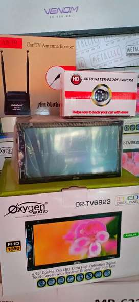 HU Double din Oxsygen,Antena tv booster,Camera Parkir led+Psang