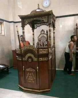Mimbar masjid kutbah jati