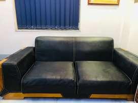 Classy black sofa